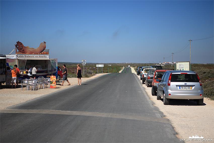 Portugal Algarve letzter Bratwurststand vor Amerika