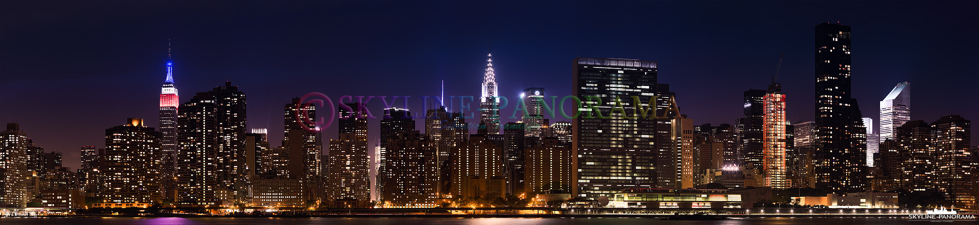 new york skyline panorama p 00625 skyline. Black Bedroom Furniture Sets. Home Design Ideas