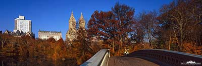 Central Park - Bow Bridge Panorama
