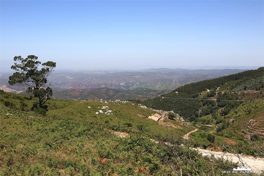 Portugal Algarve Ausblick vom Berg Foia