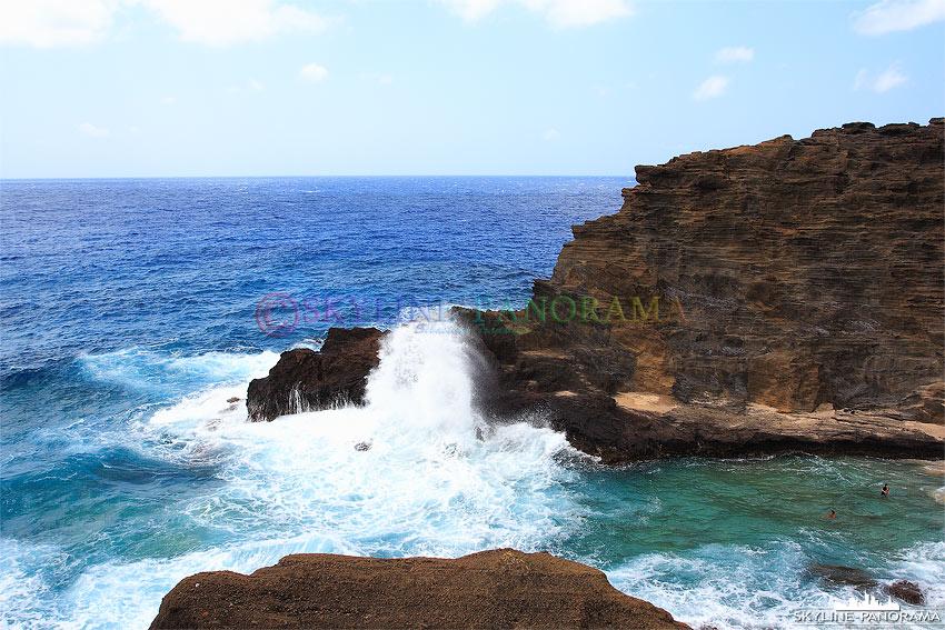 Gischt und Wellen Hawaii