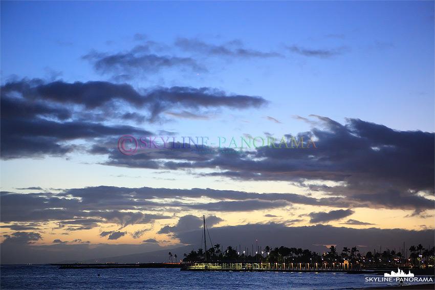 Hawaii nach dem Sonnenuntergang