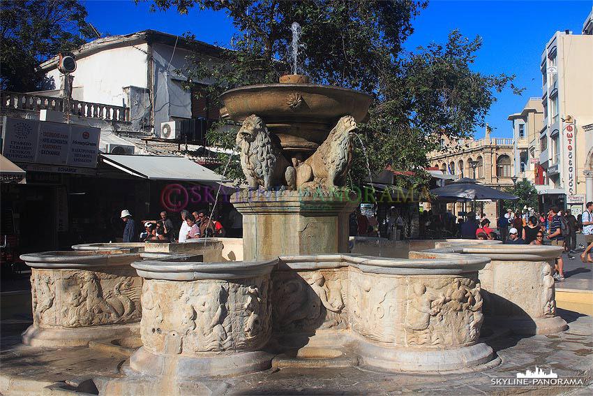 Brunnen Altstadt Heraklion Loewenbrunnen