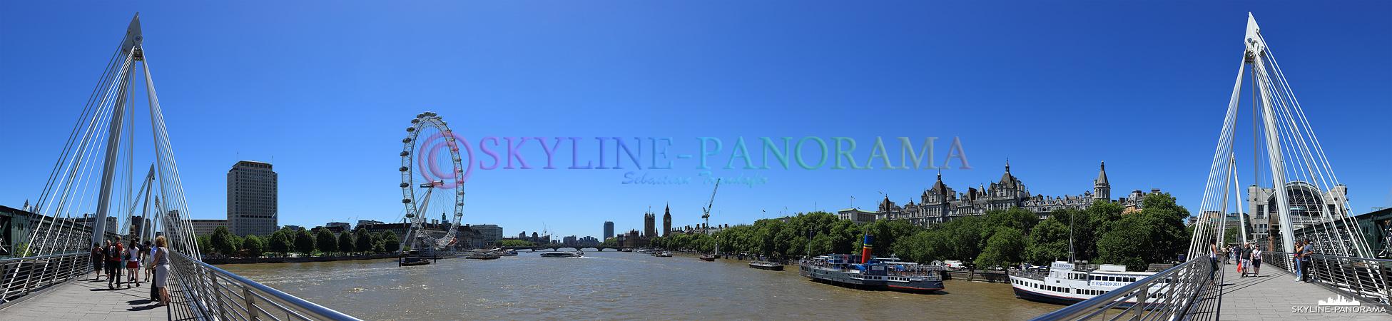 London Panorama von der Hungerfort Bridge