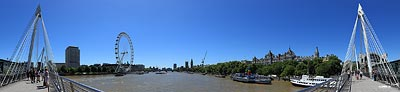 London Panorama von der Hungerfort Bridge