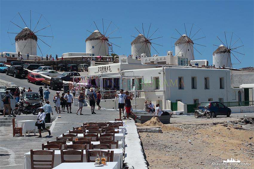 Mykonos Windmühlen Urlaub