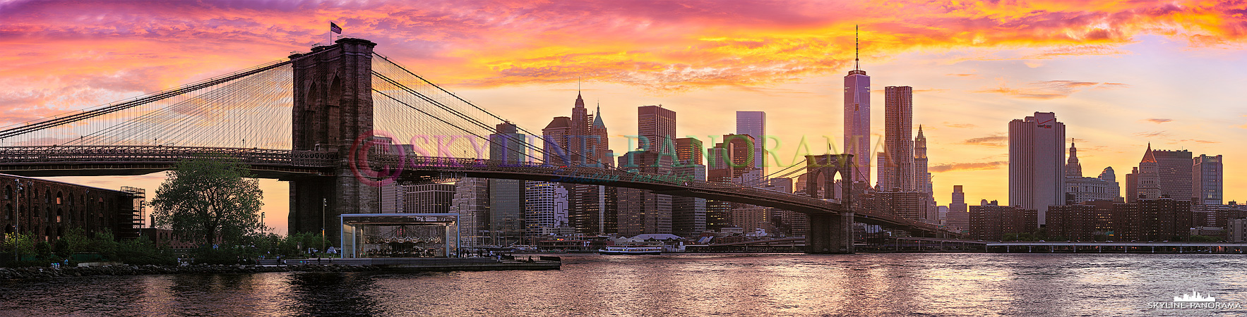Skyline New York zum Sonnenuntergang