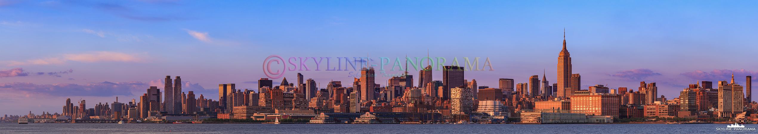 Skyline Manhattan im Sonnenuntergang