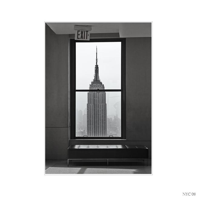 New York durch ein Fenster