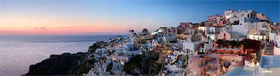 Panorama Santorini Sunset