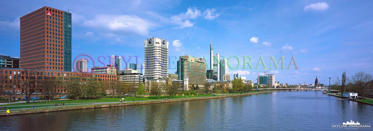 Frankfurt Panorama - Friedensbrücke
