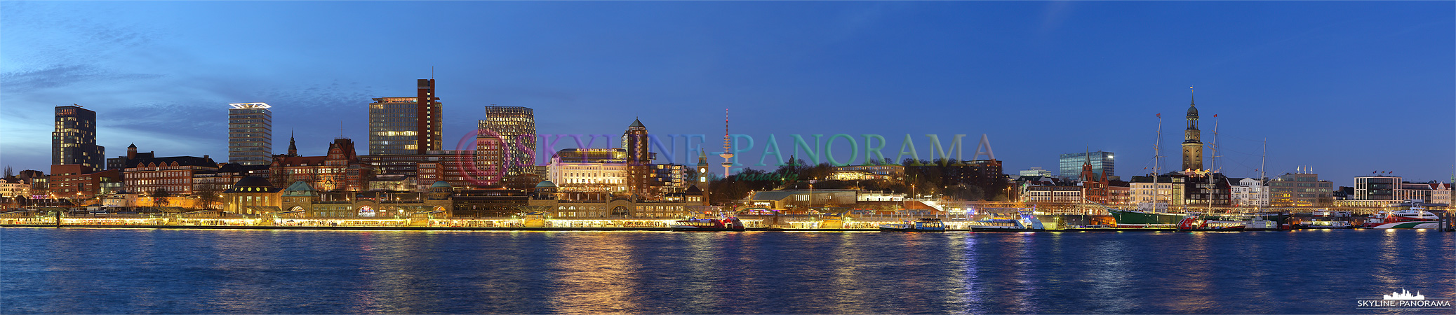 hamburg skyline am abend p 00670 skyline. Black Bedroom Furniture Sets. Home Design Ideas