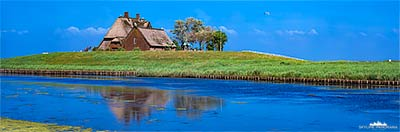 Panorama Hallig Hooge in 6x17