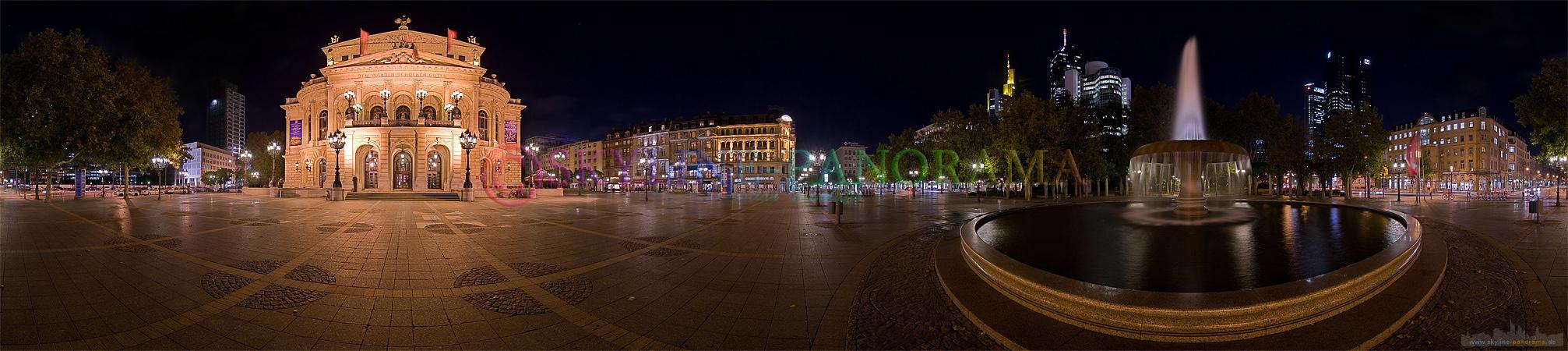 Frankfurt Bilder - Der Frankfurter Opernplatz mit der Alten Oper als 360° Panorama.