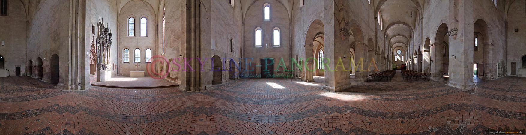 """Panorama Bild - Kloster Eberbach war schon Kulisse für die verschiedensten TV und Filmproduktionen, der bekannte Film der hier zu Teilen gedreht wurde war """"Der Name der Rose""""."""