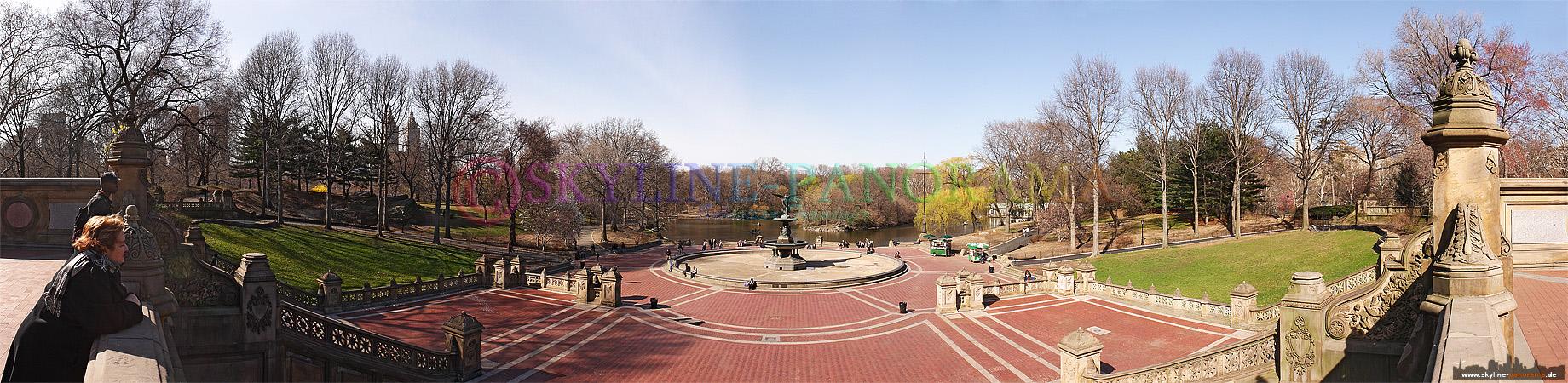 Die bekannte Bethesda Terrace ist das Zentum des Central Parks, in der Mitte der Terrasse befindet sich der als Angel of the Water bezeichnete Brunnen.