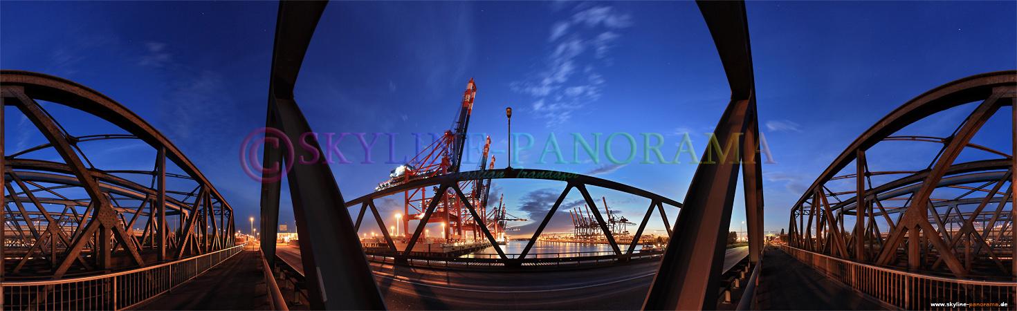 Bilder aus dem Hafen von Hamburg - Das Eurogate Terminal als 360 Grad Ansicht im Hamburger Hafen.