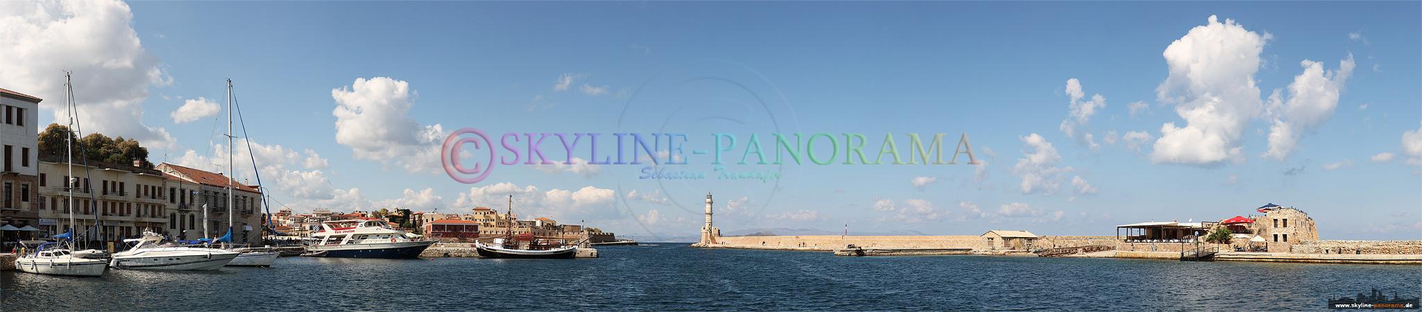 Panorama Insel Kreta - Der venezianische Hafen von Chania, der größten Stadt im Westen der Insel Kreta.