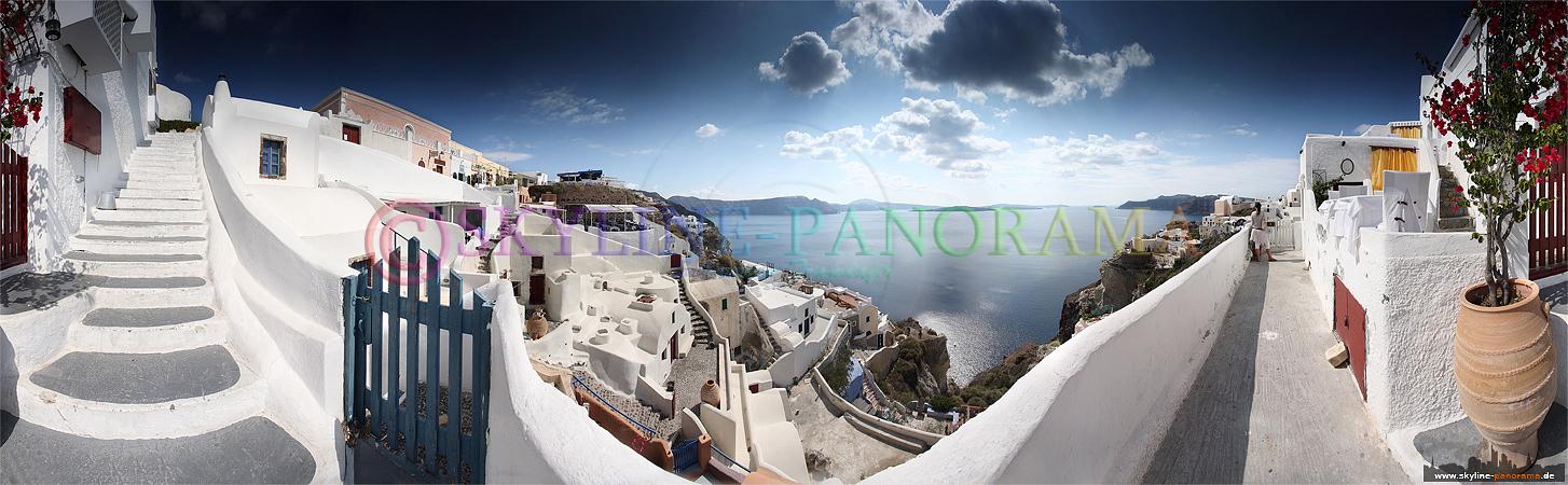 Griechenland Bilder - malerischer Blick über Oia auf der Insel Santorini