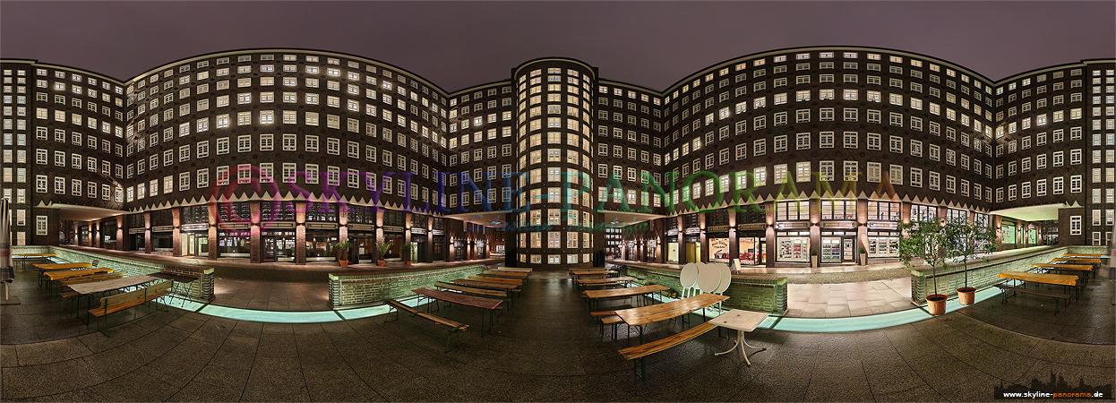 Bilder aus Hamburg - 360° Panoramabild aus dem historischen Sprinkenhof in Hamburg.