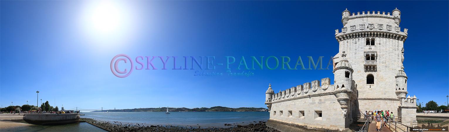 Portugal Bilder Lissabon - Torre de Belem ist eines der bekanntesten Wahrzeichen der Stadt Lissabon.