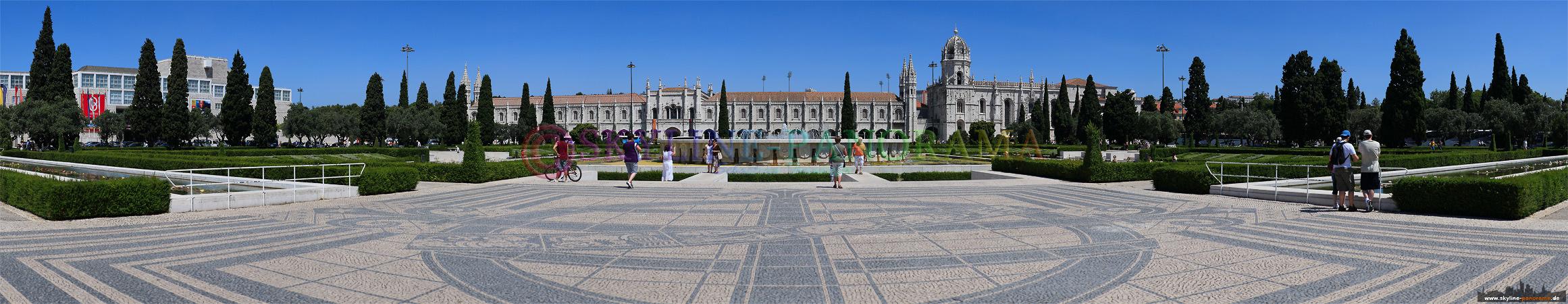 Portugal Bilder Lissabon - Das Kloster des Jerónimos mit seiner reizvollen Kalksteinfassade im Lissaboner Stadtteil Belem.
