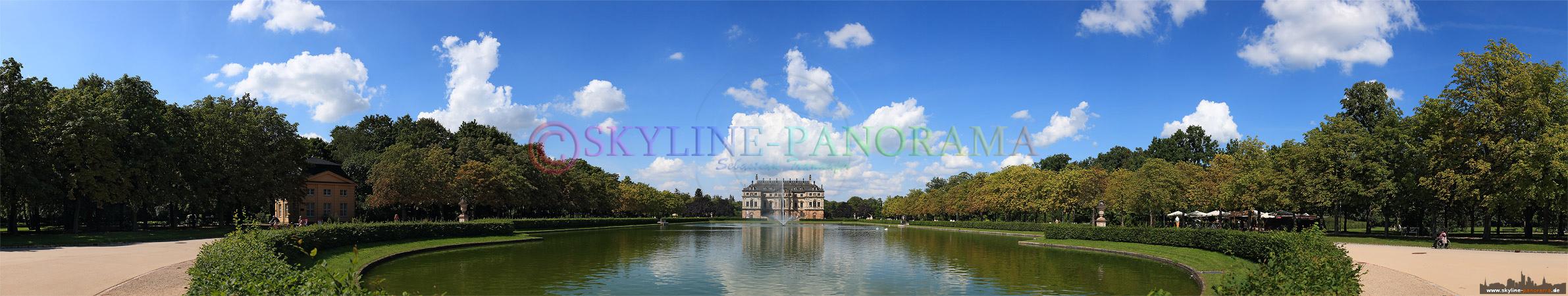 Bilder Dresden - Panorama Palais Großer Garten, eines der beliebten innerstädtischen Ausflugsziele.