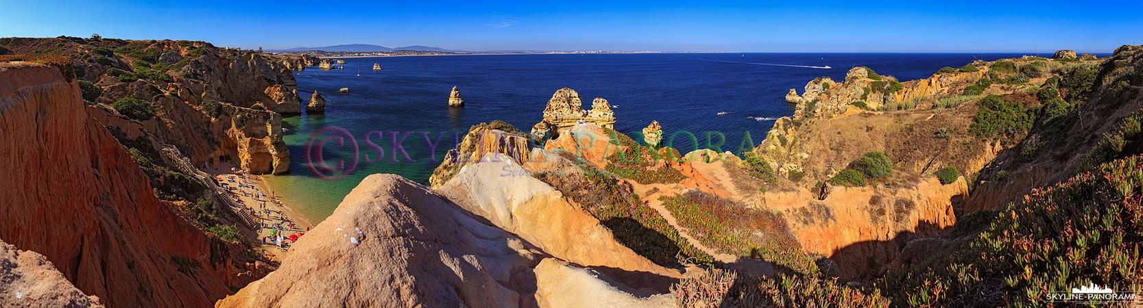 Portugal Bilder Algarve - Blick in die Buchten bei Lagos an der portugiesischen Algarve.
