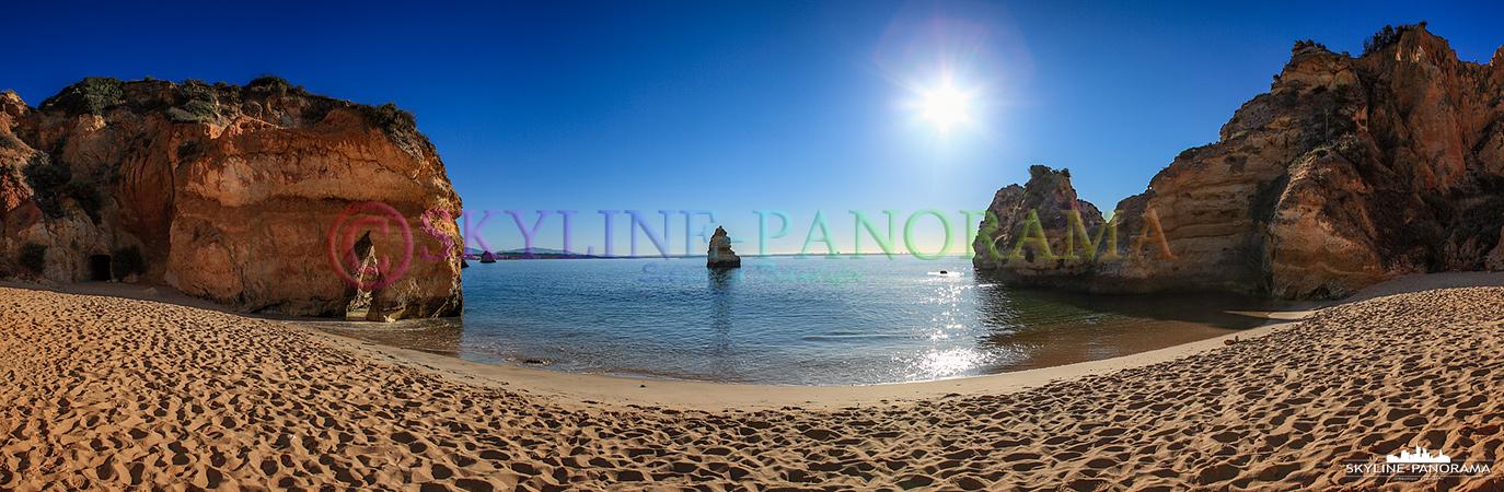 Panorama Bild Portugal Algarve - Der Strand Playa do Camilo in der Nähe der Hafenstadt Lagos.