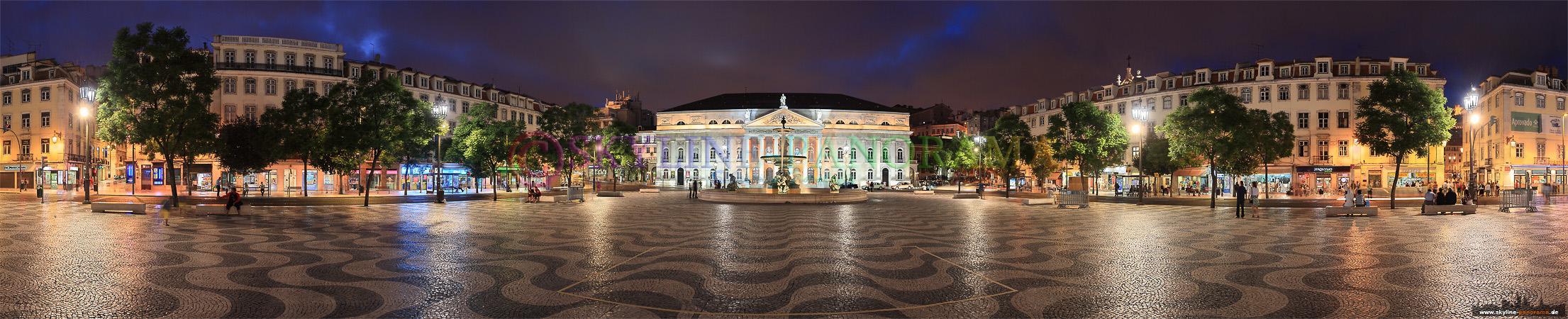 Portugal Panorama Lissabon - Der Rossio befindet sich in der Baixa Pombalina und ist seit dem Mittelalter Hauptzentrum der Innenstadt.