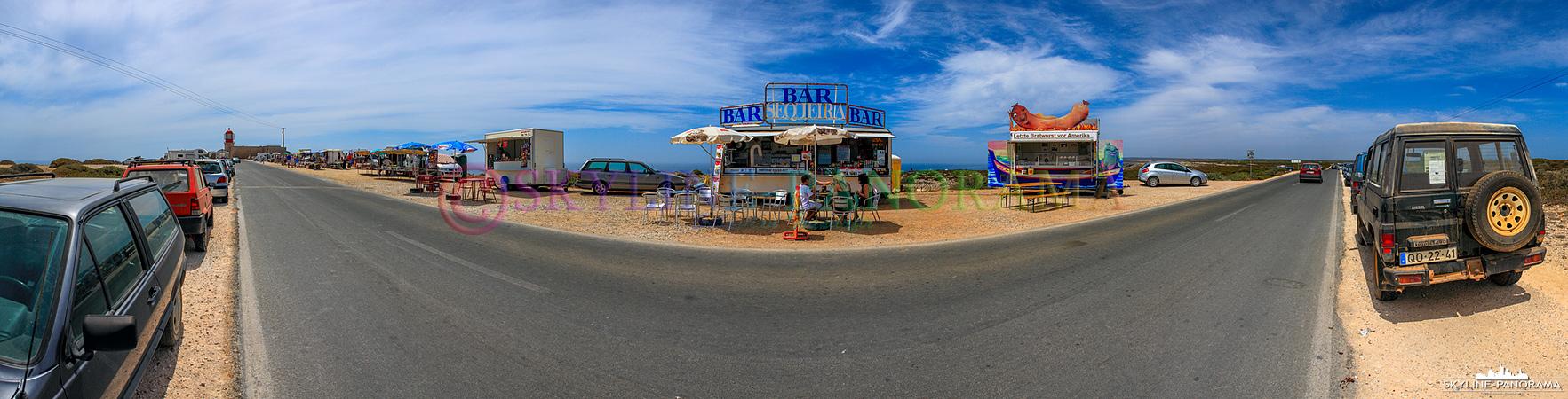 Portugal Bilder Algarve - Die Zufahrtsstraße zum Cabo de São Vicente, hier gibt es die letzte Bratwurst vor Amerika.