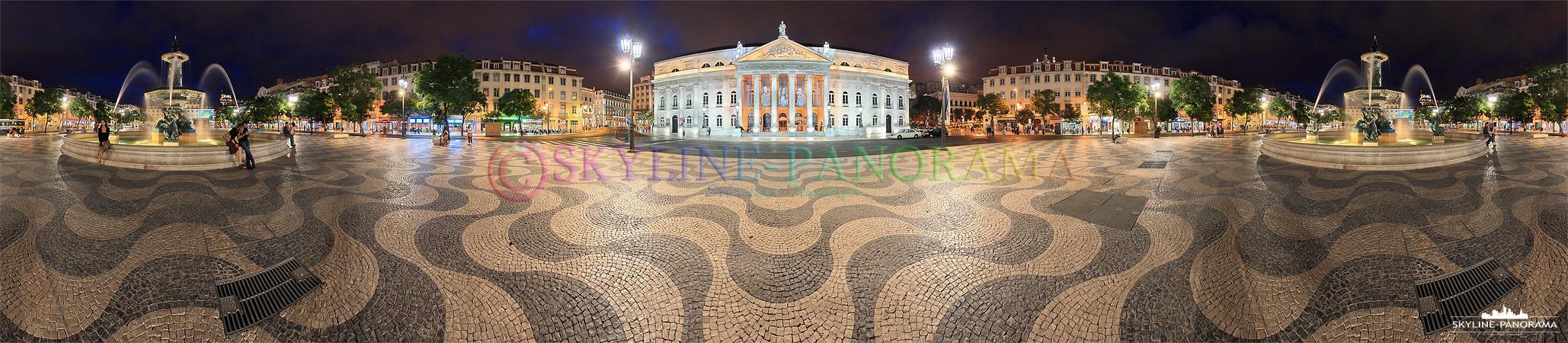 Portugal Bilder Lissabon - Der Praça Rossio ist einer der drei wichtigsten innerstädtischen Plätze der portugiesischen Hauptstadt Lissabon.