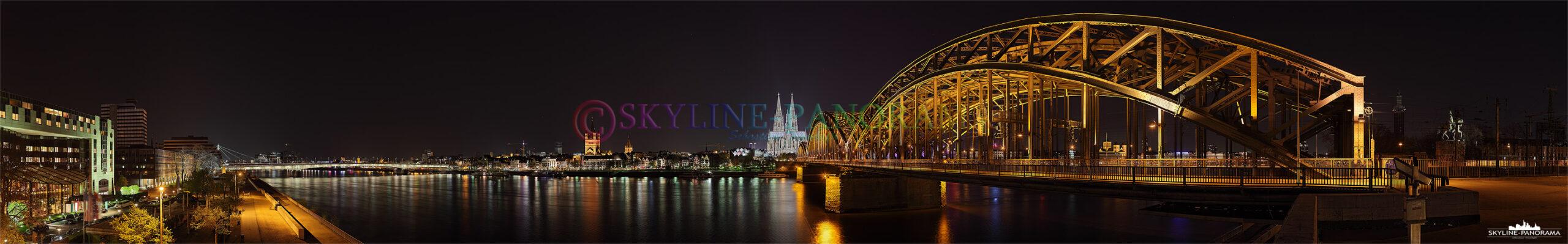die Kölner Skyline mit Dom und Hohenzollernbrücke