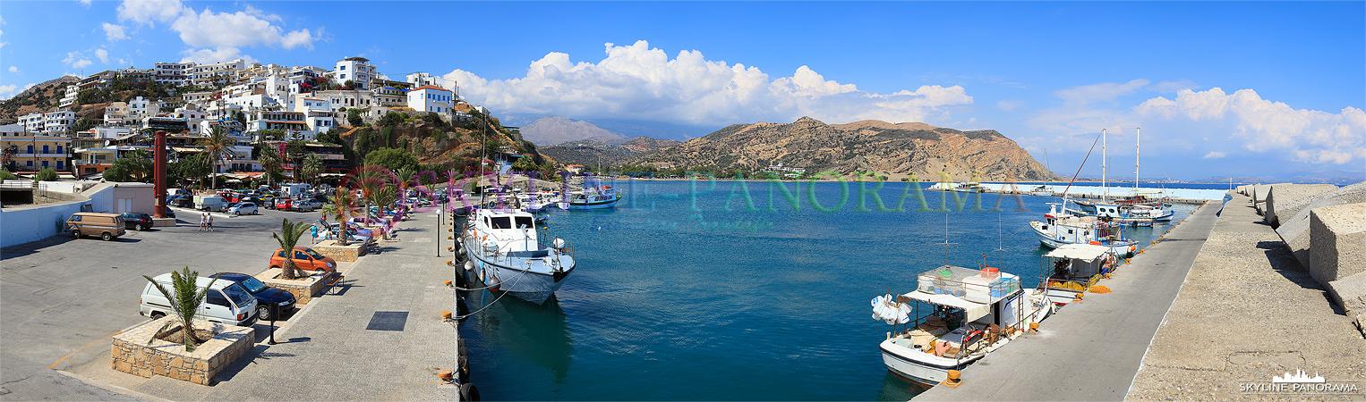 Agia Galini ist ein beliebtes Reiseziel an der Südküste von Kreta, zahlreiche Cafes und Tavernen laden in dem malerischen Fischerort zum Besuch ein.