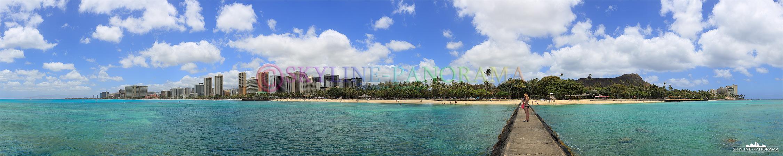 Der Waikiki Beach gehört zu den weltweit bekanntesten Traumstränden - feiner Sand, Palmen und blauer Himmel, so stellt man sich dieses Inselparadies im Pazifik vor.