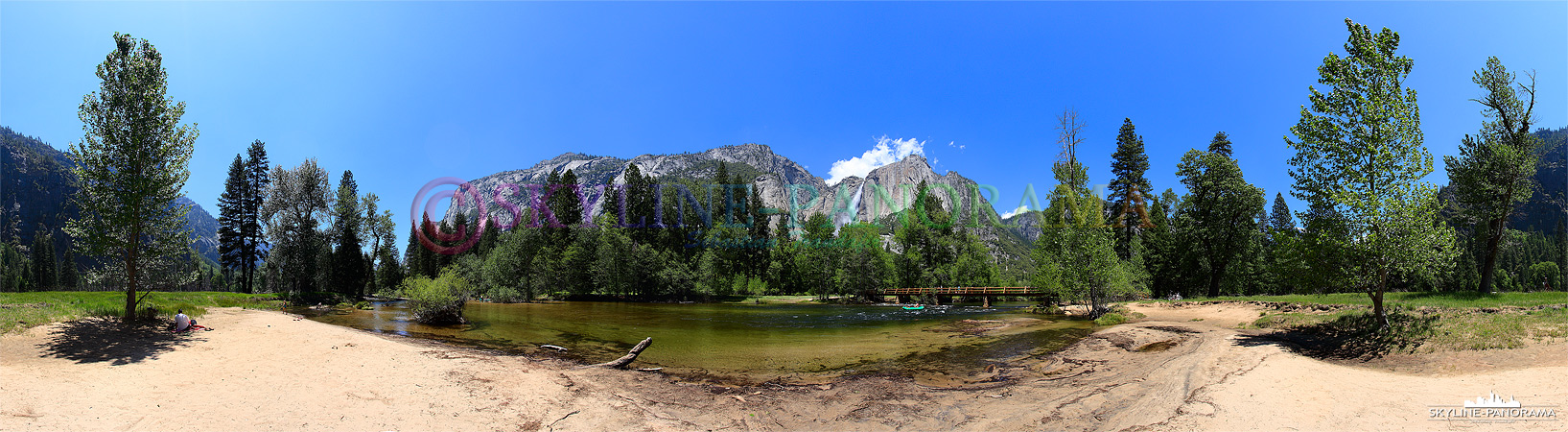 Bilder aus dem Yosemite Nationalpark - Bei schönem Wetter und warmen Temperaturen kann man an den Ufern des Merced Rivers wunderbar picknicken...