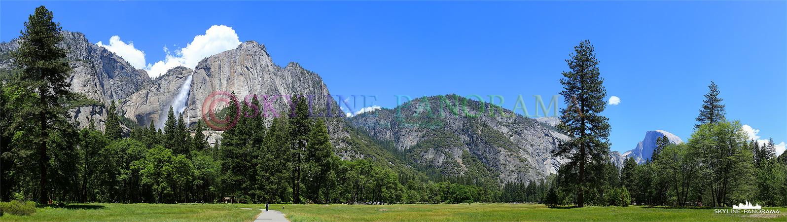 Die Natur und die Schönheit des Yosemite National Parks lässt sich schwer in Worte fassen, sattes Grün und die Bergkulisse lassen oft den Atem stoppen.
