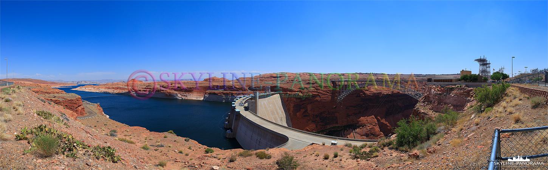 Der Colorado wird am Glen Canyon Dam zum 300km langen Lake Powell aufgestaut, die an dieser Staustufe gewonnene Energie versorgt 1,5 Millionen Menschen mit Elektrizität.