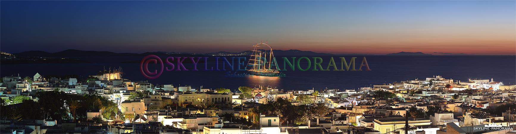 Für viele Urlauber ist Mykonos das beliebteste Reiseziel der ägäischen Inseln. Die malerische Chora von Mykonos Stadt, mit den schneeweißen, im Kykladenstil...