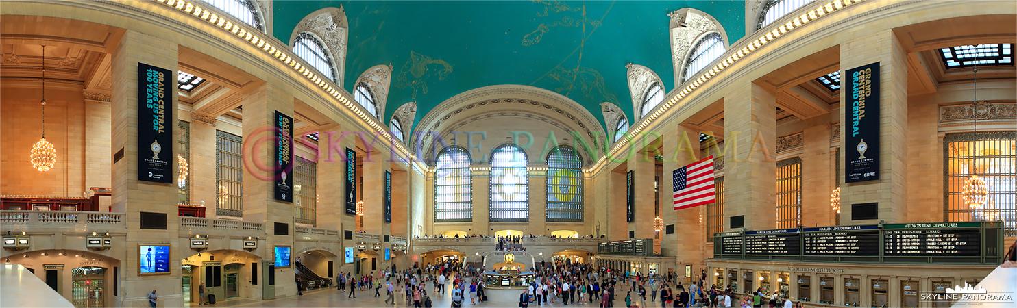 Das Grand Central Terminal zum 100 jährigen Bestehen - zusammen mit der Pennstation gehört die Grand Central Station zu den bekanntesten Bahnhöfen von New York City.