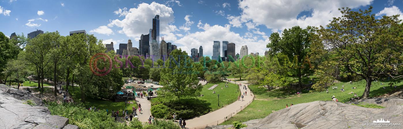 Skyline New York City - Panorama aus dem Central Park, dem grünen Herzen von Manhattan.