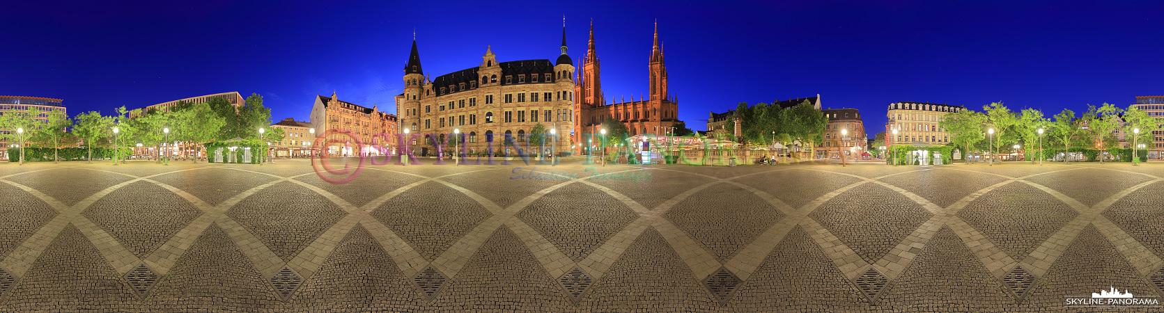 Bilder aus Wiesbaden - Eine 360 Grad Ansicht aus der Mitte des Wiesbadener Marktplatzes.