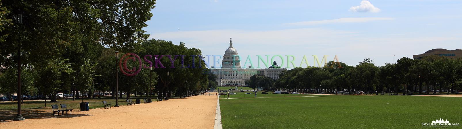 Ansichten Washington - Panoramablick von der National Mall aus in Richtung U.S. Capitol.