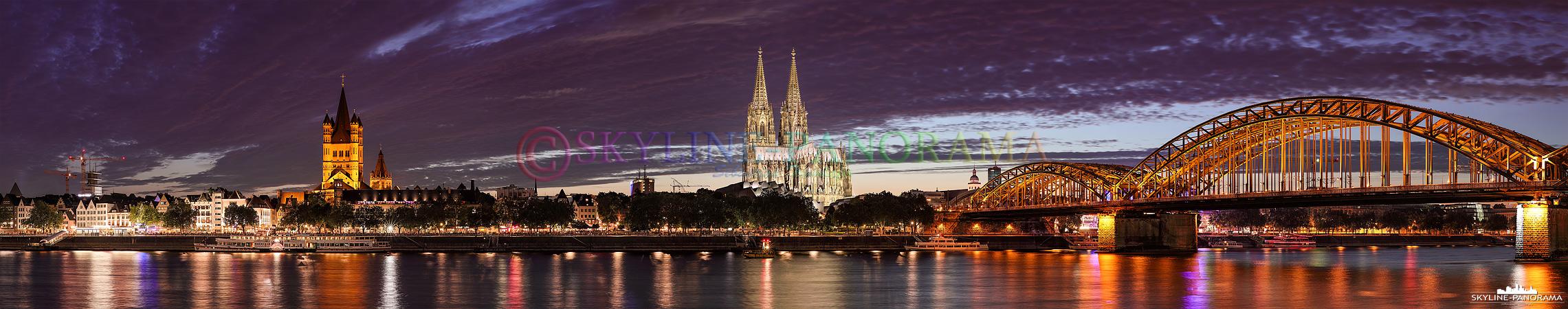 Bilder aus Köln - Das Köln Panorama gesehen vom Rheinboulevard im Spätsommer 2015.