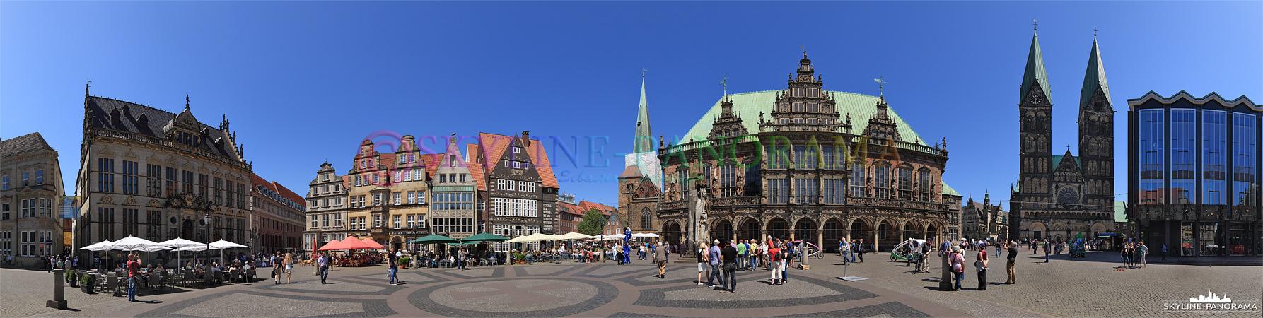 Bilder aus Bremen - Der Marktplatz von Bremen zählt zu den schönsten Plätzen Deutschlands.