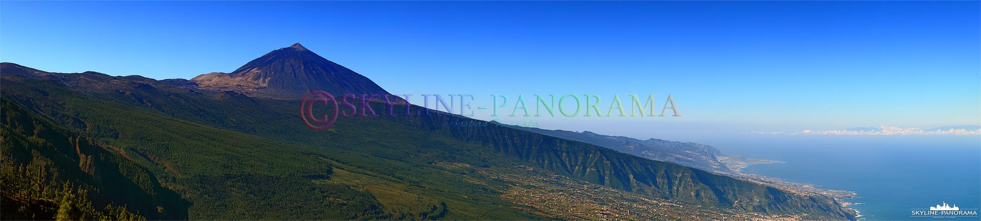 Teide Panorama - Wolkenloser Blick auf den Gipfel des über 3700 Meter hohen Teide.