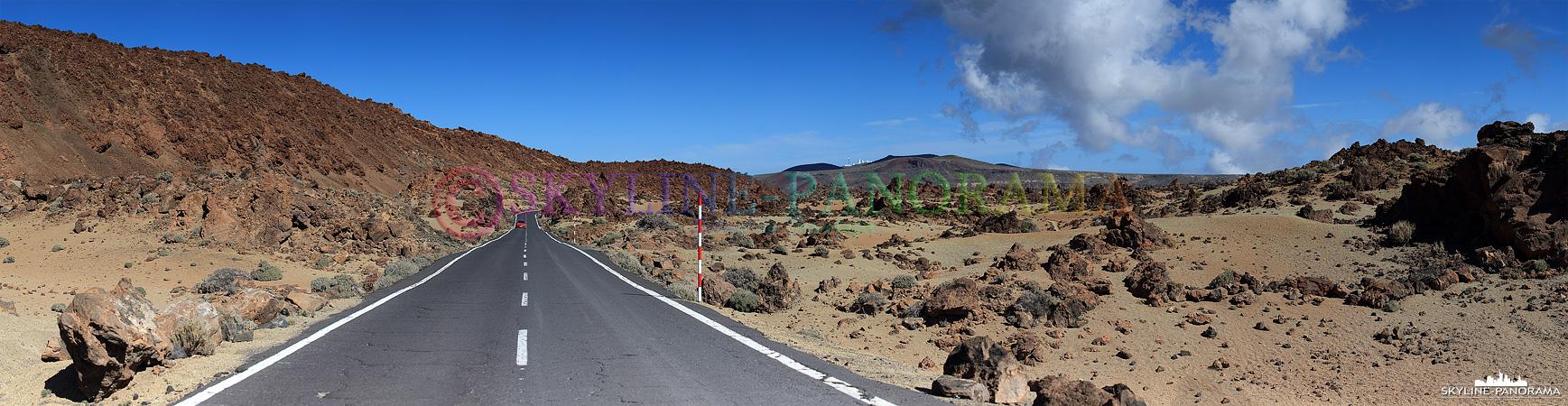 Das Straßennetz im Teide Nationalpark ist hervorragend ausgebaut und in einem guten Zustand. Hier der Blick vom Parkplatz Aussichtspunkt Minas de San José