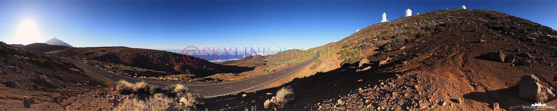 Panorama Teneriffa - Die Aussicht vom Teide Nationalpark in Richtung Puerto de la Cruz.
