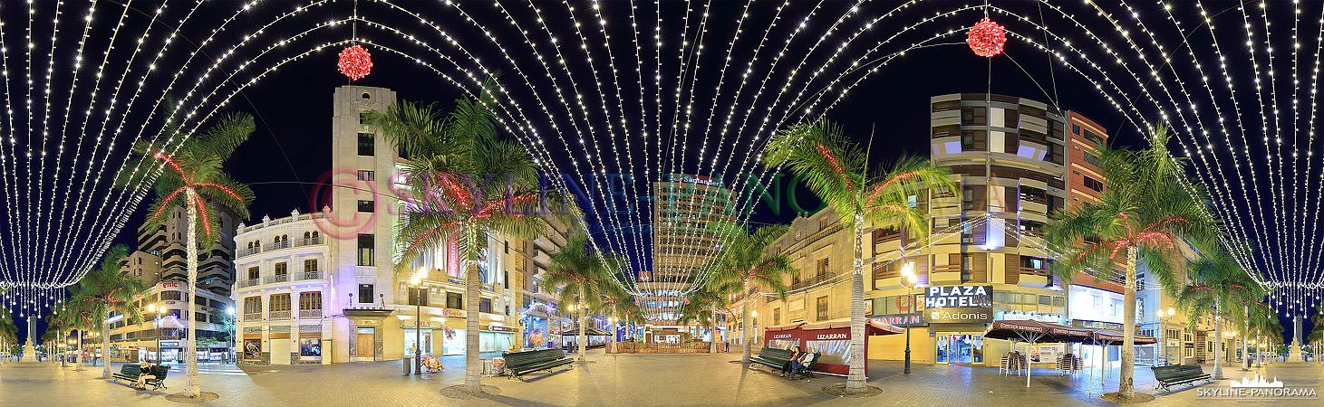 Bilder aus Santa Cruz – Die weihnachtlich geschmückte Innenstadt von Santa Cruz de Tenerife.