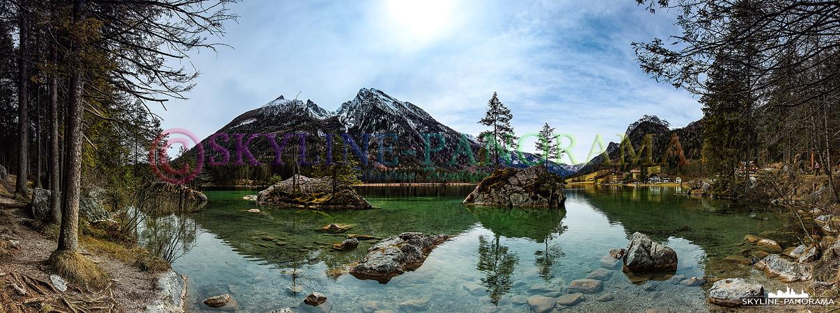 Bilder aus Ramsau - Der Hintersee mit seinem klaren Wasser und dem fantastischen Bergpanorama begeistert bei jedem Besuch von Neuem.